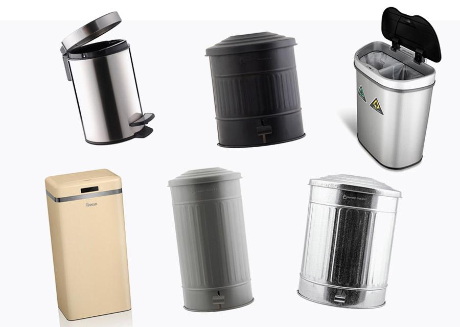 Flotte og funktionelle skraldespande til køkkenet