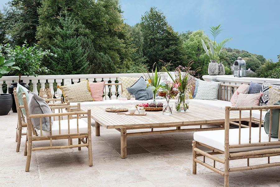 Flotte loungemøbler i bambus